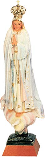 Ferrari & Arrighetti Imagen de la Virgen de Fátima de 70 cm Pintada a Mano y embellecida con Strass