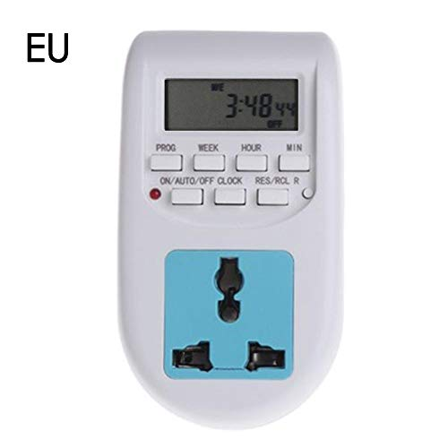 APPLYVT Europäischer Standard-Digital-Timer-Sockel Timing-Anzeigenschalter Multifunktions-Thermostat-Timer-Schaltsteckdosen Startseite Lieferanten Sockel für Wasserspender Warmwasserbereiter Aquarien -