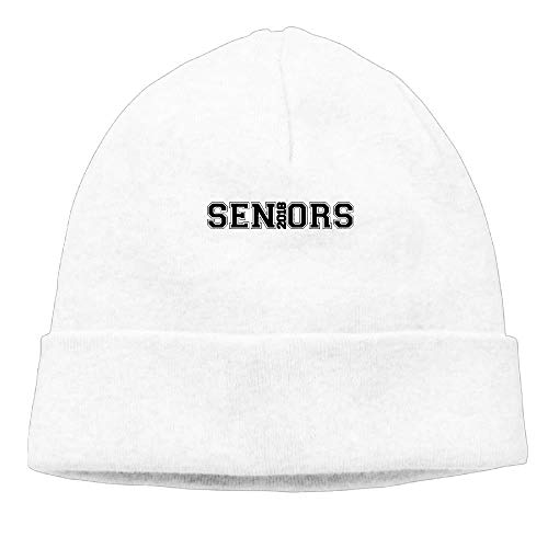 DHNKW Seniors 2018 Men Women Knit Cap Casual Cap Unisex Autumn/Winter Cap -