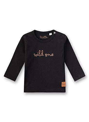 Sanetta Unisex Baby T-Shirt, Schwarz (Super Black 10015), 68 (Herstellergröße: 068) -