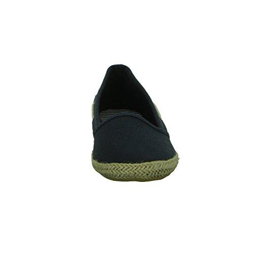 Sneakers BM14S1057 Damen Leinen Slipper/Kletthalbschuh Blau (Blau)