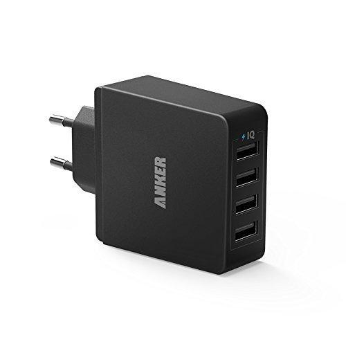 Anker Steckdosen Ladegerät mit PowerIQ Technologie, 36W 5V / 7.2A, 4x USB