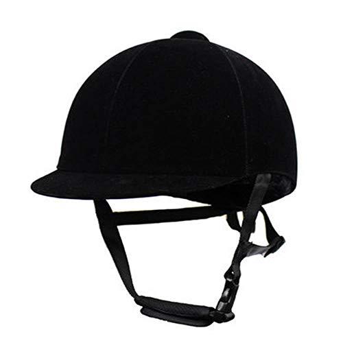 SJF Reithelm, Reithelm mit Halbschutz, Leistung und Komfort für Anfänger bis Fortgeschrittene, robust und langlebig, Unisex,XL Deluxe Womens Helm