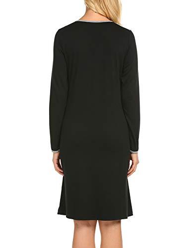 UNibelle Maternity Kleid, Damen Umstandsmode Sommerkleid Festliches Umstandskleid Schwangeren Kleider Mutterschaftskleid Nachthemd Schwangerschaft Stillkleider Schwarz - 6