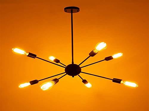 GWFVA E27 Araña Industrial Creativa Antigua Lámpara Edison Clásica Lámpara de Techo DIY Ajustable Antigua Iluminación de Techo (con Bombilla) (8 Luces)