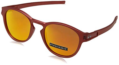 Oakley Herren Latch 926525 53 Sonnenbrille, Rot (Ir Red/Prizmruby)