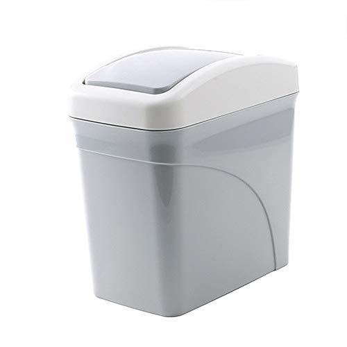 YA-Uzeun Mini-Abfalleimer, für den Schreibtisch, für die Küche, Wohnzimmer Gray 1 -