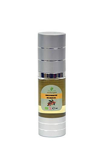 huile d'argan cosmétique bio 30 ml pressée à froid hydratante anti-âge pour visage, cheveux, corps ongles, Certifiée 100% BIO ECOCERT