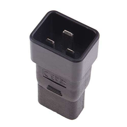 Baoblaze AC Power Adapter, IEC 320 C20 bis C21 90 gerade Stromwandler Adapter Stecker -