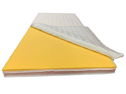 XXL-Plus Extra Feste Matratzenauflage Topper für Schwergewichtige - direkt vom Betten-Fachgeschäft - 8 cm Gesamthöhe mit Klimaband und Stegkanten (140x200 cm)