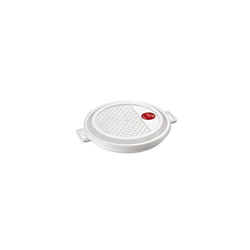Assiette micro-ondes avec couvercle 23 cm