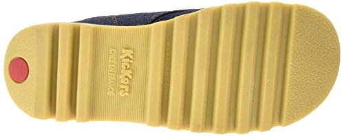 Kickers Kick Hi Denim Textile, Af, Dk Blue Damen Kurzschaft Stiefel Blau (Dunkelblau)