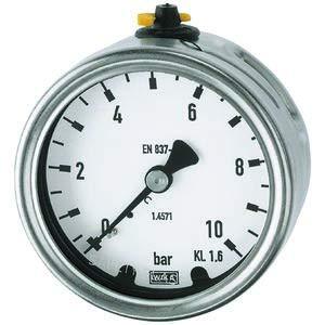 RIEGLER Manometer, CrNi-Stahl, G 1/2 hinten exzentr, 0-16,0 bar, Ø 100 -