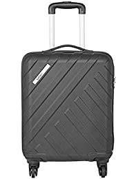 Safari Harbour 55 Cms Polycarbonate Black Cabin TSA Lock 4 wheels  Hard Suitcase