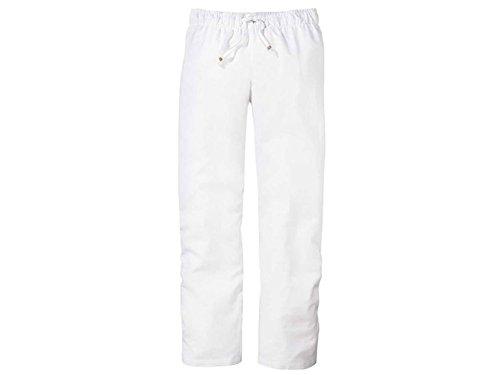 Esmara Damen Leinen-Hose Sommerlich Leichter Stil (38, weiß)
