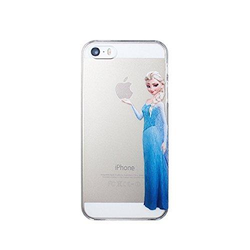 Coque Iphone 5C souple TPU Elsa Reine des neiges transparente + FILM PROTECTION OFFERT