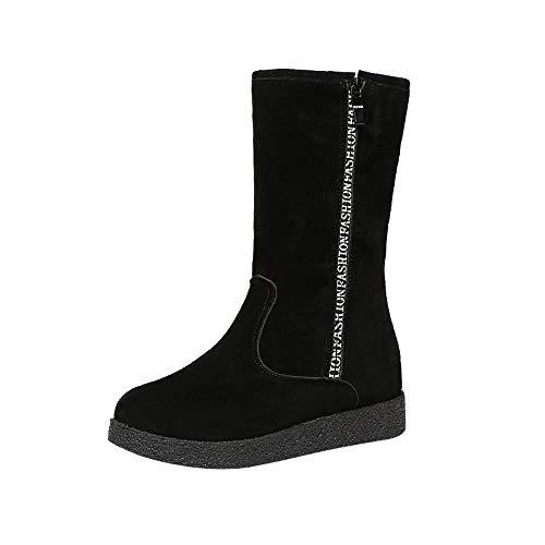 Preisvergleich Produktbild Stiefel Damen,  LANSKIRT Flache Low Zipper Middle Tube Stiefel Stiefeletten Halbschaft Stiefel Plateau Blockabsatz Knöchelhohe Stiefel Boot Sandalen Sneakers Schuhe