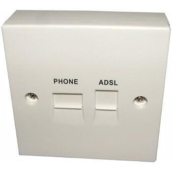 bt telephone adsl broadband faceplate filter adaptor. Black Bedroom Furniture Sets. Home Design Ideas