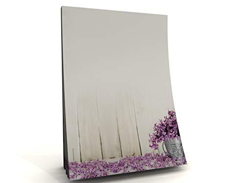 Sommer Frühling Blumen Motivpapier Block Fleur de Savon, 50 Blatt DIN A5, 90g/qm - Blatt Fleur De