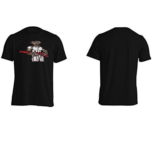 Uomo Demone Con Arte Musica Di Chitarra Uomo T-shirt oo2m Black