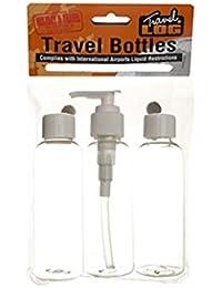 3 piezas viaje Líquido Botella Set - Tamaño de viaje Contenedores de plástico