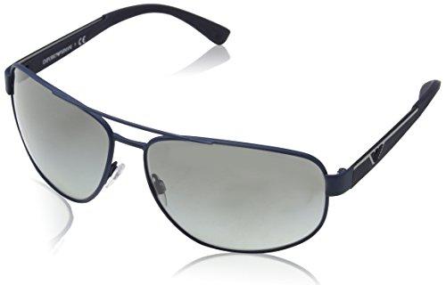 Emporio Armani Herren EA2036-318811-64 Sonnenbrille, Dark Blue Rubber, 64