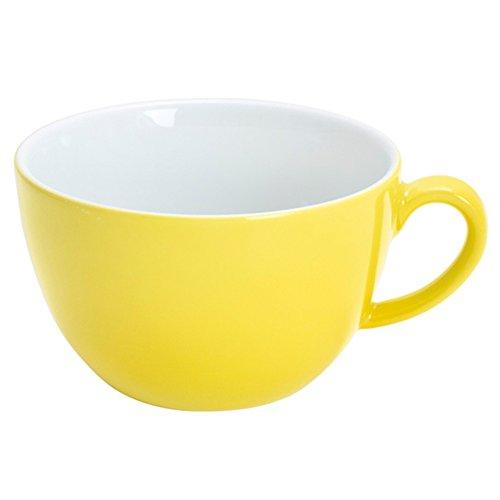 Kahla Pronto Colore Frühstückstasse, Kaffee Tasse, Becher, Porzellan, Zitronengelb, 400 ml, 204709A70412C