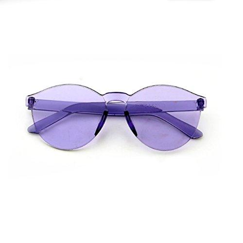 Junecat Kinder Randlos Color Film Sonnenbrille Kinder Anti UV Oval Frame Sonnenbrillen Junge Mädchen UV400 Schutz Brillen Brillen