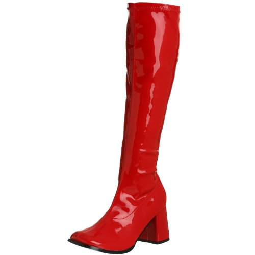 Pleaser Gogo 300, Damen Stiefel, Rot (Red Str Pat), 39 EU (300 Halloween Kostüm)