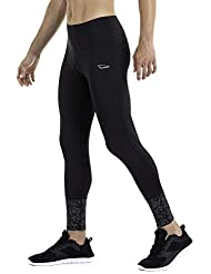 XAED, pantaloni da corsa, da uomo, colore nero, taglia M