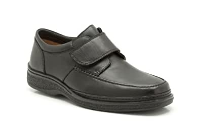 Clarks Mens Casual Stonehill Gate Leather Shoes In Black Wide Fit Size 8