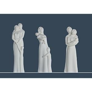 GILDE Skulptur Francis Paar 'Eltern mit Baby', 32 cm, creme Bild das Rechte