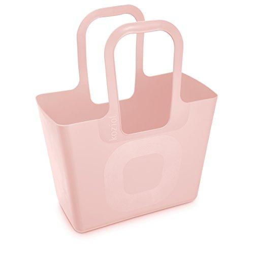Koziol, borsa XL, in Plastica, 21.5x 44x 54cm, Plastica, nero, 215x440x540 cm Rosa Cipria