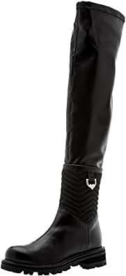 Twin Set CA7TB7, Stivali da Equitazione Donna, Nero, 37 EU