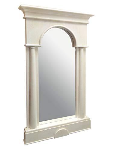 Allegro Spiegel (casamia Wandspiegel Säulen-Spiegel Allegro mit Massivholzrahmen Pinie massiv lipizano Farbe Pinie lipizano)