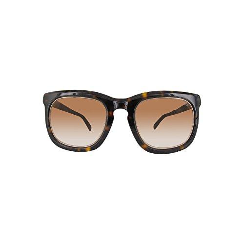 Emilio pucci - ep0021, geometrico, acetato/legno, uomo, dark havana gold/dark brown shaded(52f a), 50/22/140