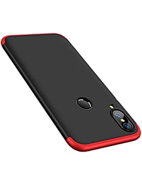 Funda Huawei P20 Lite, Carcasa Huawei P20 Lite Funda 3 in 1 Slim Fit PC Hard Case 360 Grados Integral Protectora...