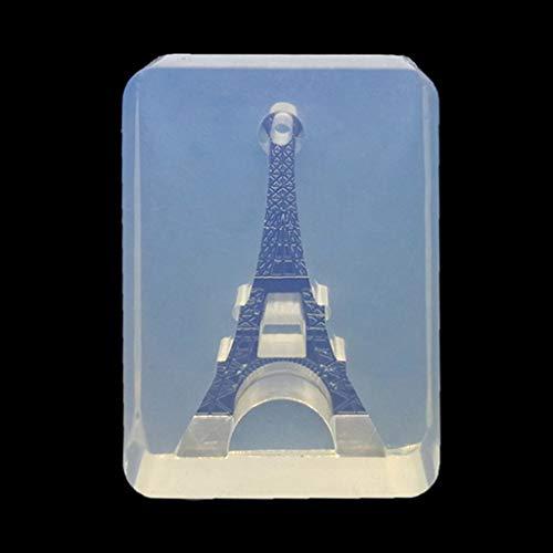 ♥Chuance Silikonform Gießform Resin Form Eiffelturm Schlüssel Flasche Form Anhänger Harz Schmuckherstellung Werkzeuge