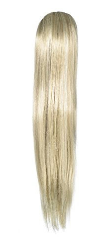 Love Hair Extensions - LHE/N/ALICE/CC/22/60/613 - Prime de Fibres Alice - Pince Crocodile - Queue de Cheval - Couleur 22/60/613 - Blond Plage/Blond Pur/Blond Crème