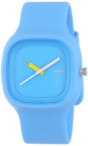 Alessi - AL10012 - Montre Mixte - Automatique - Analogique - Bracelet Plastique Bleu