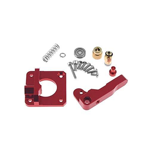 Extrusor de filamento Bowden 1.75MM de Bloque de aleación de Aluminio CR10 para Piezas de Impresora 3D (Rojo)