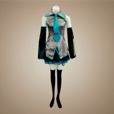 VOCALOID,Hatsune Miku Cosplay Kostüm, Größe L:Höhe 164-169CM,Gewicht 50-55 kg