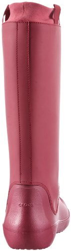 Crocs RainFloe Boot W, Stivali, Donna Rose (Pink Pomegranate/Pomegranate 6D9)
