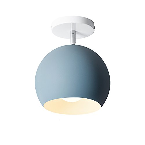 Creative Macaron Metalldecken Leuchte Einzelkopf bunte verstellbare Deckenlampe für Gang Korridor Küche Bar Restaurant Cafe Barn Deckenleuchte (Color : Royal blue) Royal Küche