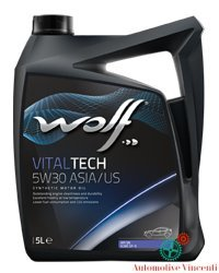 WOLF Olio motore 5 Litri VITALTECH 5W30 ASIA/US 5L