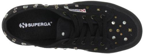 Superga, 2750-cotw Studs, Chaussures Plates, 996 Full Black Femme