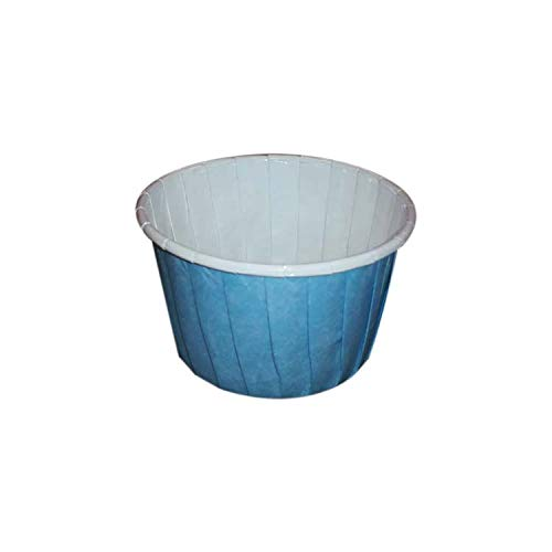 Sugar and Cakes 100 Cupcake Muffin blau hellblau Baby-blau Papier Backförmchen Backform beschichtet Tasse backfähig benötigt Keine Extra Form