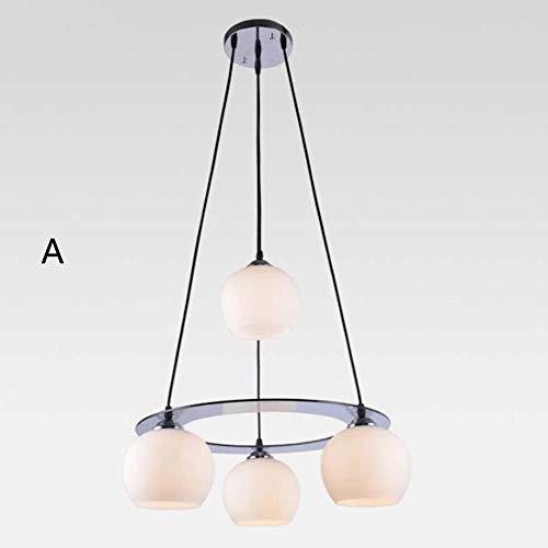 Pflaumen-glas-anhänger (SXFYWYL Kreative Sterne LED Kronleuchter Einfachheit Pflaume Pendelleuchte Wohnkultur Glas Leuchte E27X4,A:48CM)