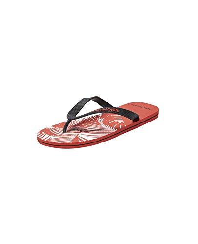 Jack & Jones - JJ Split Rubber Pack Flip Flop - Zehentrenner - div. Farben Rot (Cherry Tomato jjFLOWER)
