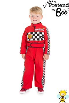 Childrens Boys Girls Red F1 Racing Car Driver Fancy Dress Costume 2 - 3 Years by Pretend to Bee